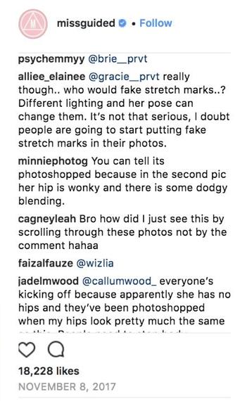 Missguided paradeigma post instagram marketing