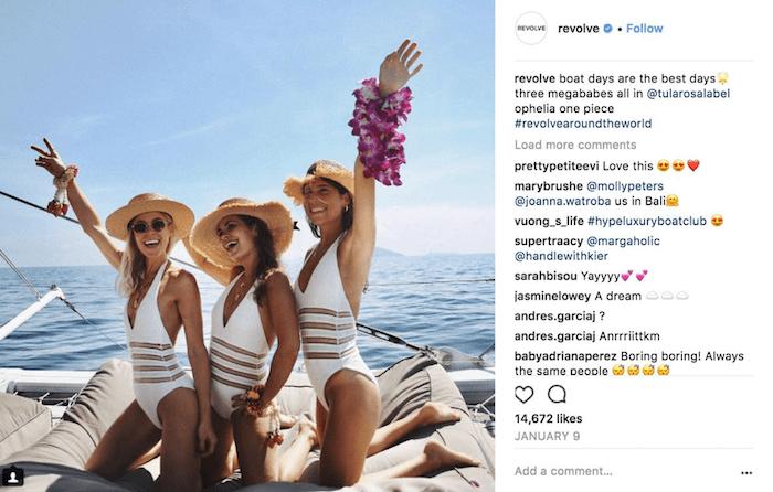 Revolve paradeigma post instagram marketing