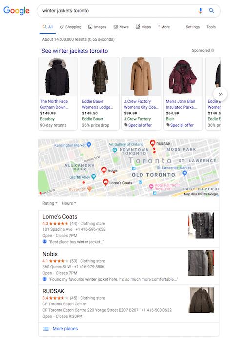 Winter jackets Google anazitisi diafimisi sto google
