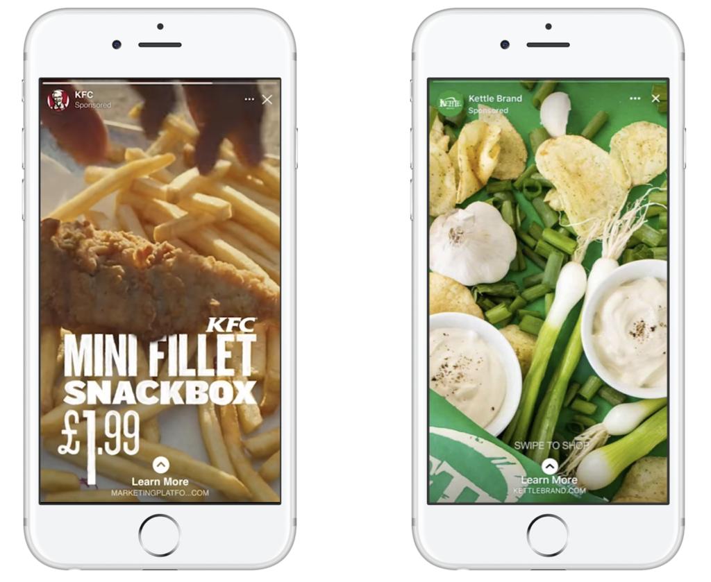 Instagram stories ad social media marketing