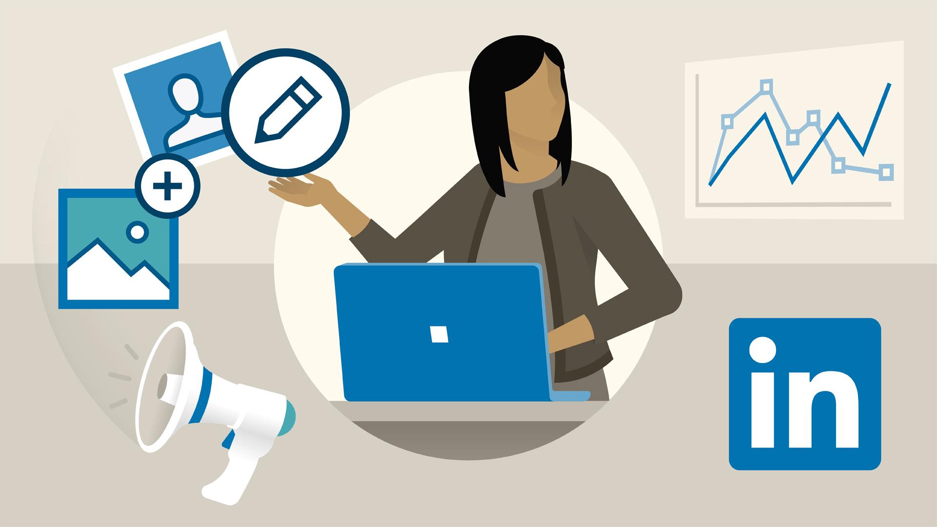 Linkedin marketing illustration marketing social media marketing