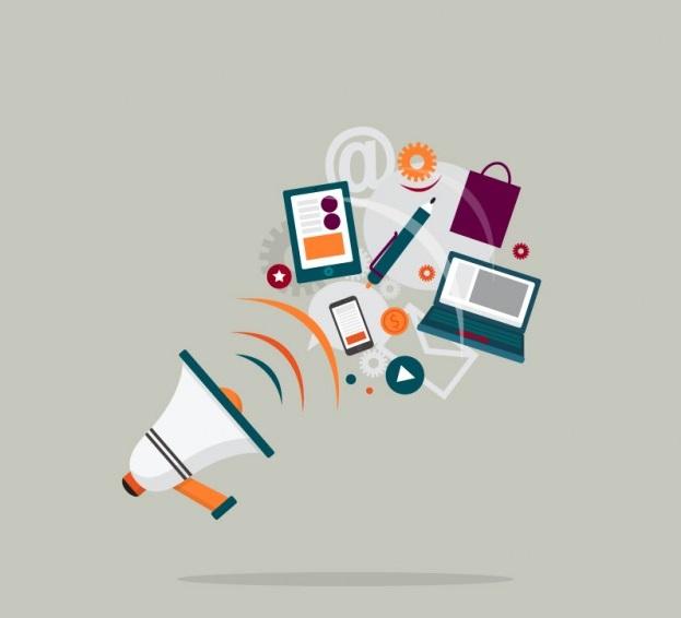 Megaphone business equipment social media advertising marketing